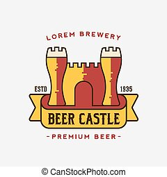 Beer Castle Vector Logo Template