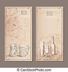 Beer collection cards for the restaurant