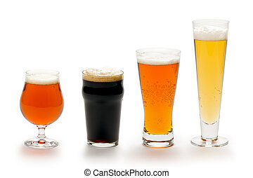 Beer Composite - Composite of four beers in different styles...