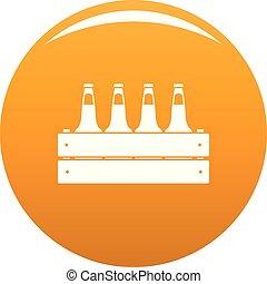 Beer crate icon vector orange