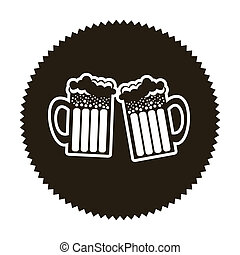 beer design over beige background vector illustration