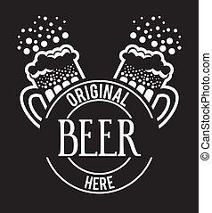 beer design over black  background vector illustration
