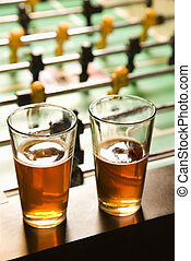 beer., dois, óculos
