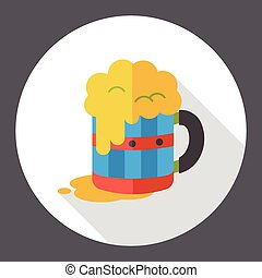beer drink flat icon