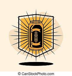 beer emblem vintage