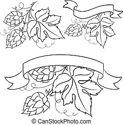 Beer emblems and labels.