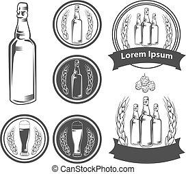beer - craft beer brewery emblems, design elements for logo...