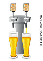 beer equipment vector illustration isolated on white...