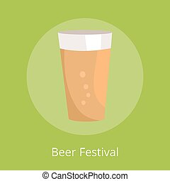 Beer Festival Poster with Icon of Full Pint Glass - Beer...