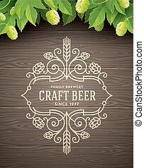 Beer flourishes emblem
