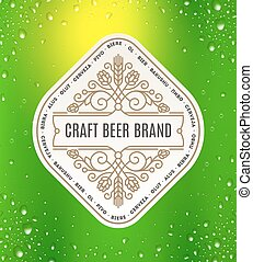 Beer flourishes label emblem