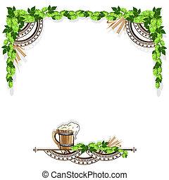 Beer frame with vintage elements