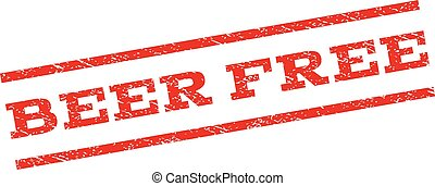 Beer Free Watermark Stamp