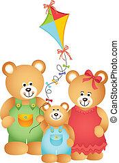 beer, gezin, teddy