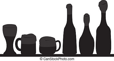 beer glass and bottle background