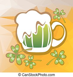 beer glass and clover