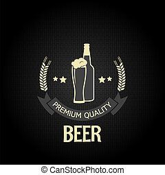 beer glass bottle barley design menu background 8 eps