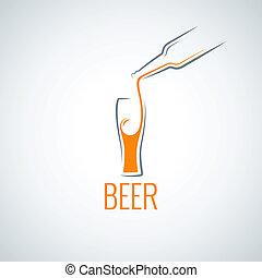 beer glass bottle menu background