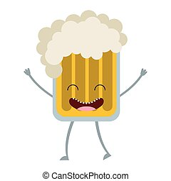 beer glass character icon