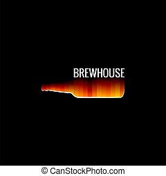 beer glass fire design background