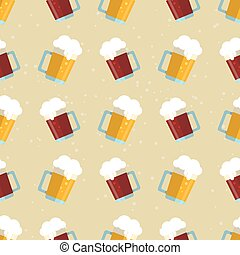 beer glass flat seamless
