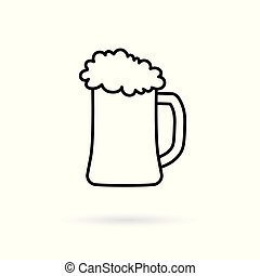 beer glass icon- vector illustration