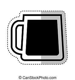 beer glass isolated icon