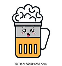 beer glass kawaii style