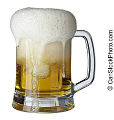 beer glass pint drink beverage alcohol - close up of glass...