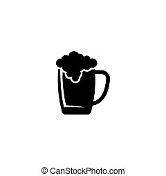 Beer glass vector icon