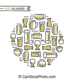 Beer Glasses Collection