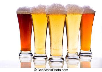 Beer glasses - Studio photo of beer glasses