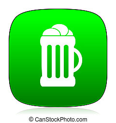 beer green icon for web and mobile app