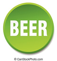 beer green round flat isolated push button