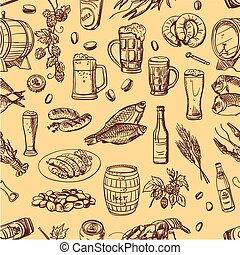 beer hand drawing pattern