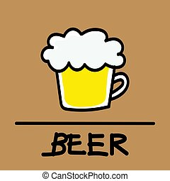 beer hand-drawn style,Vector illustration.