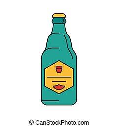 Beer icon, cartoon style - Beer icon. Cartoon beer vector...
