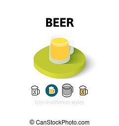 Beer icon in different style