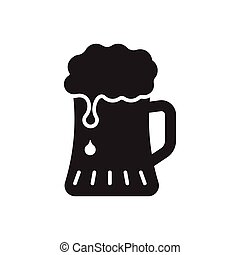 Beer Icon in trendy flat style isolated on white background. Beer glass symbol for your web site design, logo, app, UI. Vector illustration, EPS10.