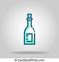 beer icon or logo in  twotone - Logo or symbol of beer icon ...