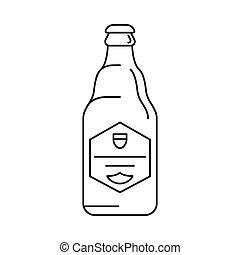Beer icon, outline style - Beer icon. Outline beer vector...