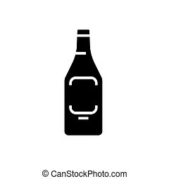 beer icon, vector illustration, black sign on isolated background