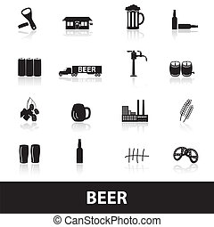 beer icons eps10