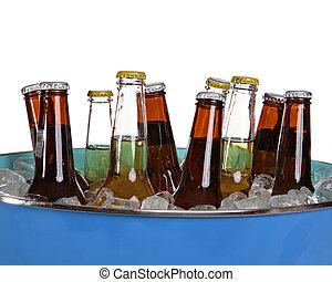 Beer in a bucket - Iced beer in a bucket