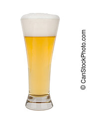 Beer in a tall glass