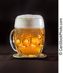 Beer in Czech traditional cup