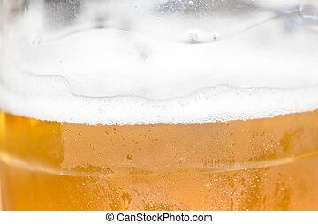 Beer in plastic bottles
