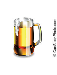 Isolated beer glass. Vector. EPS 10