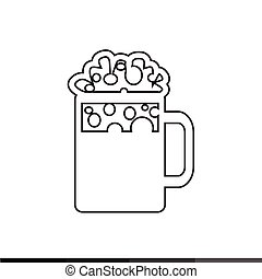 Beer Jar Icon Illustration design