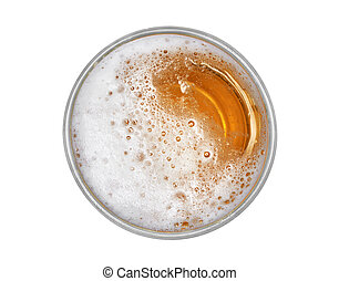 beer jug isolated. Top view with clipping path